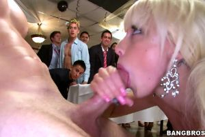 Rikki Six Swallows In Front Of A Crowd