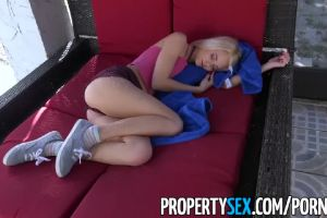 Sexy Petite Blonde Teen Needs Place To Stay